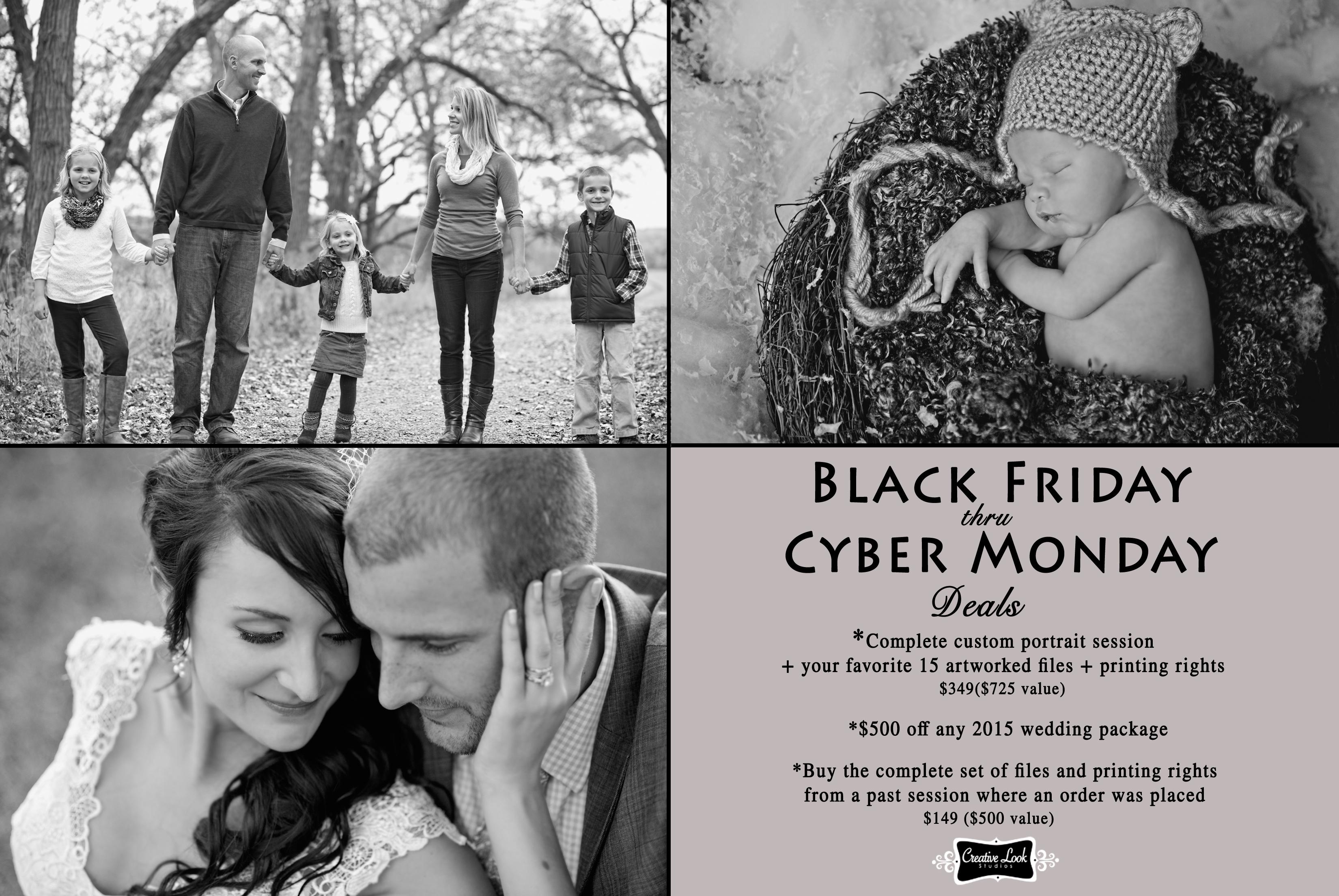 Black Friday Cyber Monday Photography Deal Middelton Wi Photographer Creative Look Studios